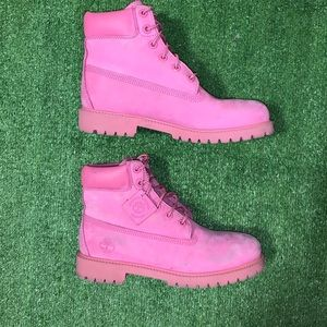 Timberlands suede leather pink boots